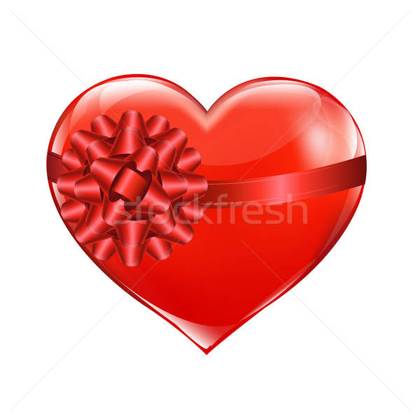 Stock photo: Red Heart With Bow