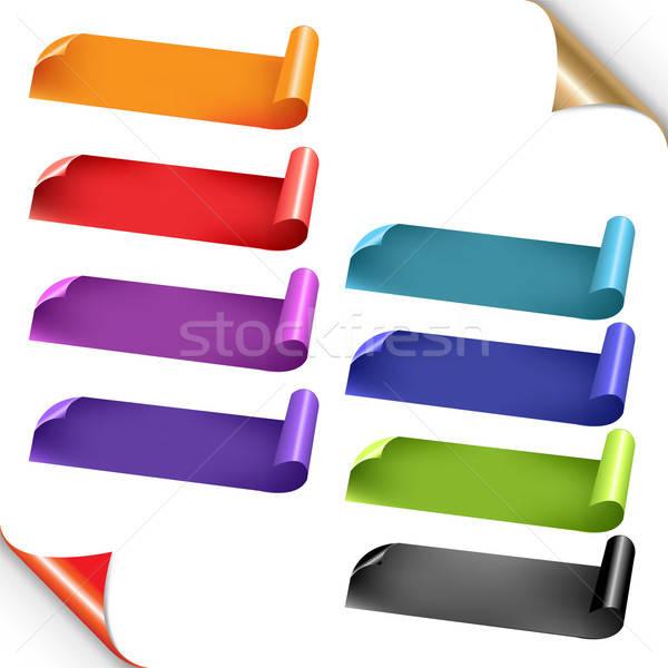 Web Colorful Ribbons Set Stock photo © barbaliss