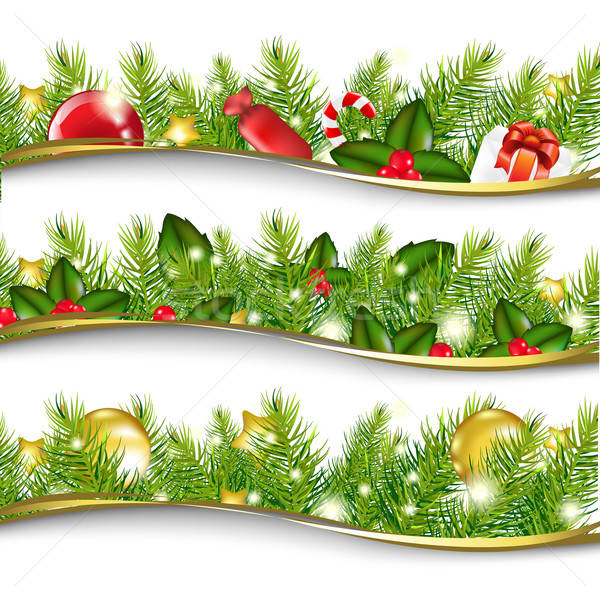 Christmas Garland Set Stock photo © barbaliss
