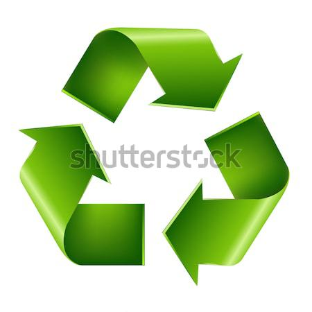 Recycling Symbol isoliert weiß Natur Design Stock foto © barbaliss