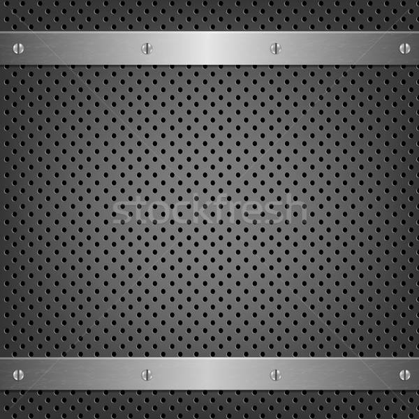 Metal Background With Aluminum Plate Stock photo © barbaliss