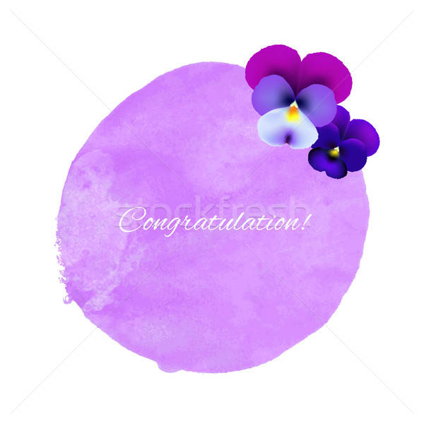 Watercolor Blot With Flowers Stock photo © barbaliss