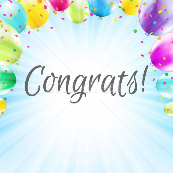 Congrats Card Stock photo © barbaliss