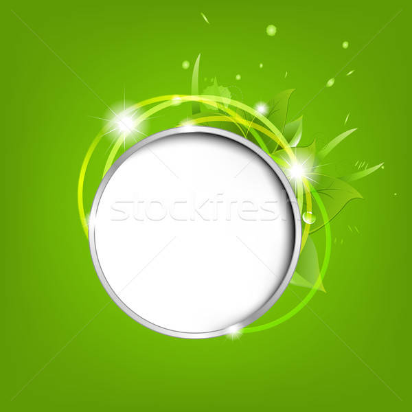 Eco Speech Bubble With Leafs And Stars Stock photo © barbaliss