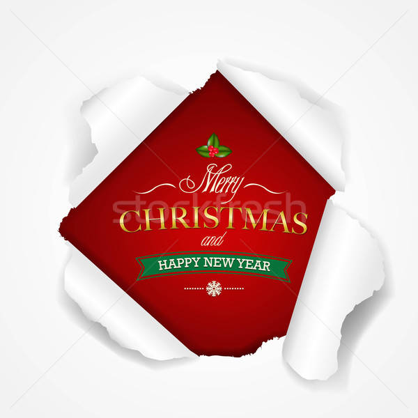Happy Christmas Poster Stock photo © barbaliss