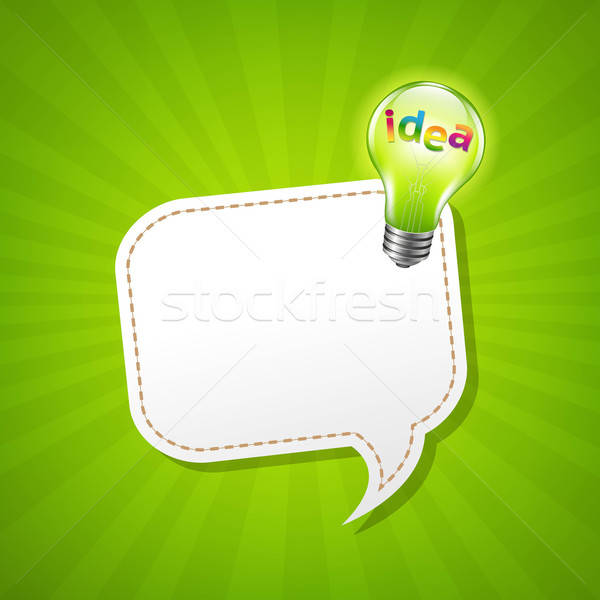 Verde poster fumetto lampada gradiente Foto d'archivio © barbaliss