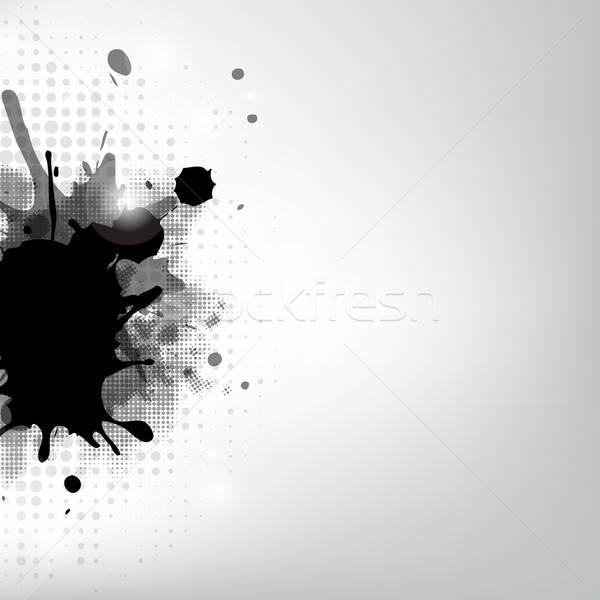 Black Blob And Stars Stock photo © barbaliss