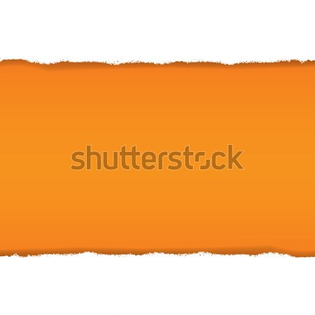 Rip White Paper And Orange Background Stock photo © barbaliss