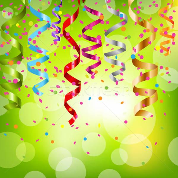 Stream isolato bianco party design Foto d'archivio © barbaliss