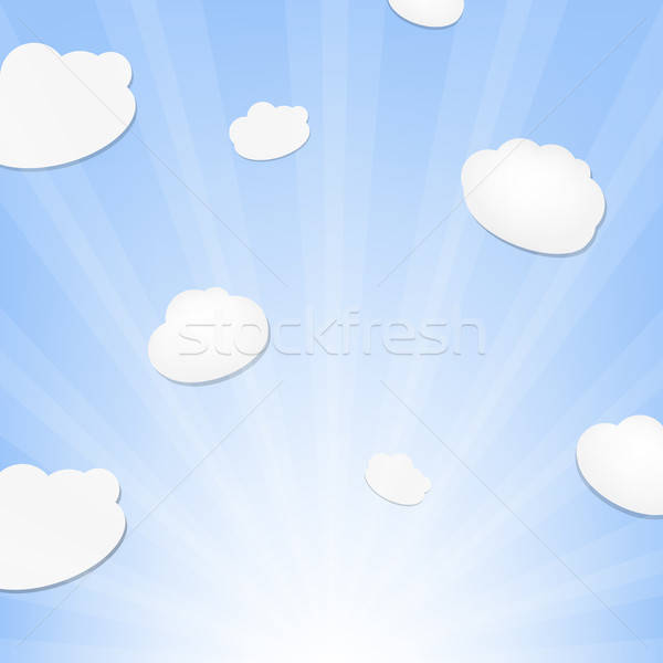 Cloud And Sunburst Stock photo © barbaliss