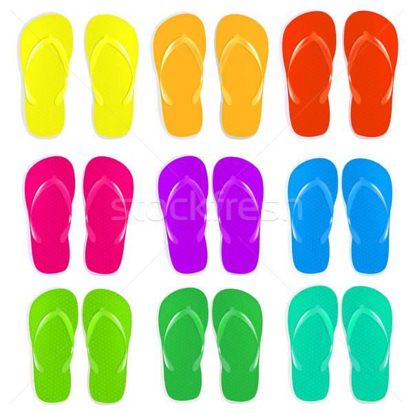 Flip Flops Set Stock photo © barbaliss