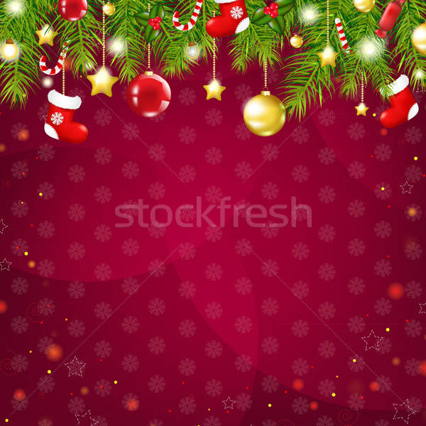 Christmas And Happy New Year Card Stock photo © barbaliss