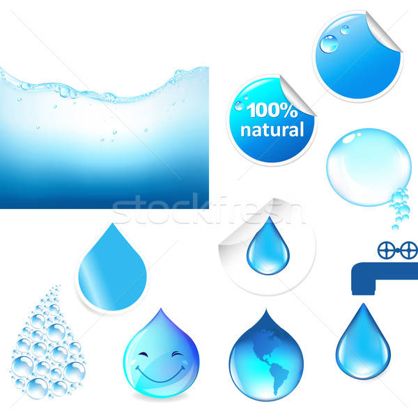 Water Symbols Set Stock photo © barbaliss