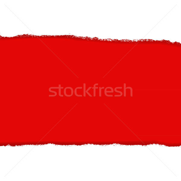 Rip Paper And Red Background Stock photo © barbaliss