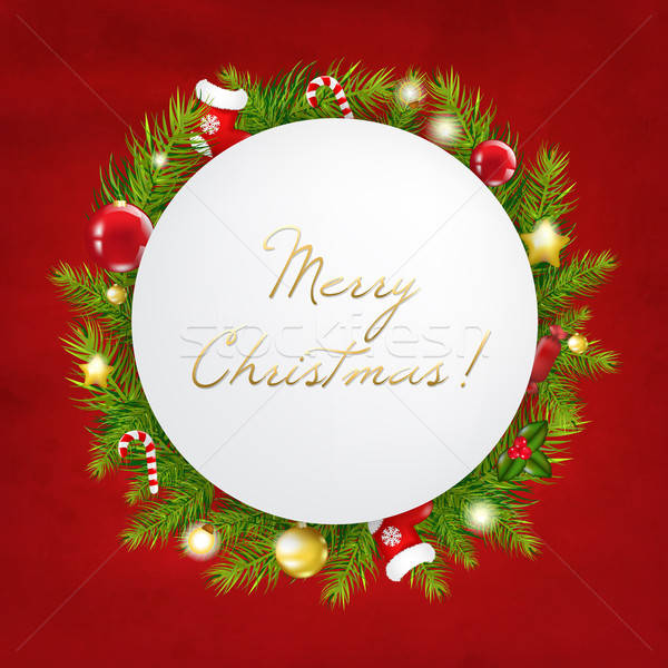 Merry Christmas Festive Card Stock photo © barbaliss