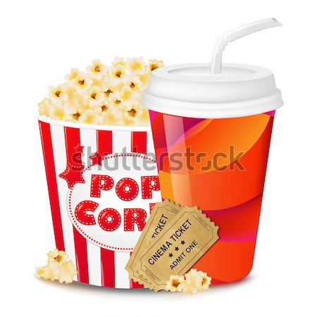 Grey Grungy Background With Popcorn Stock photo © barbaliss