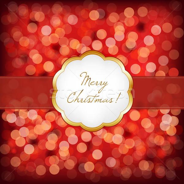 Alegre Navidad elegante vintage marco nino Foto stock © barbaliss