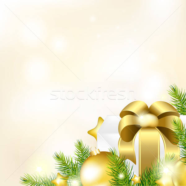 Christmas Or New Year Gold Background Stock photo © barbaliss