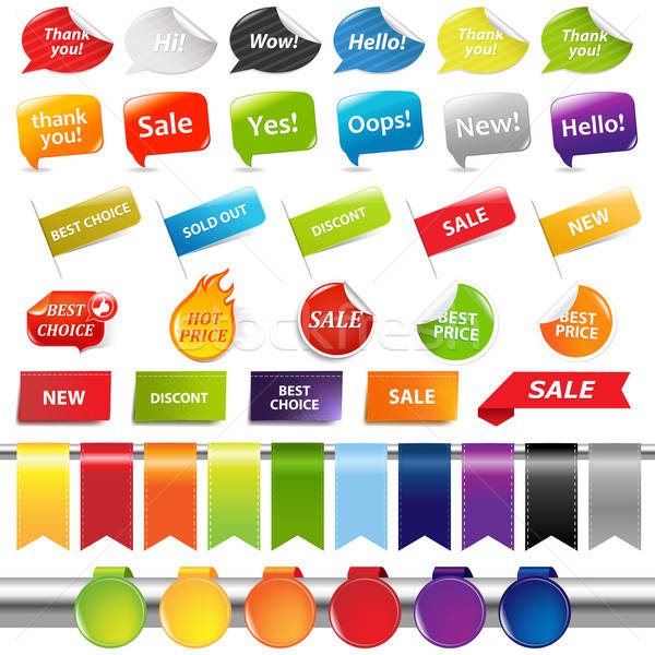 Set Of Colorful Sale Stickers And Labels Stock photo © barbaliss