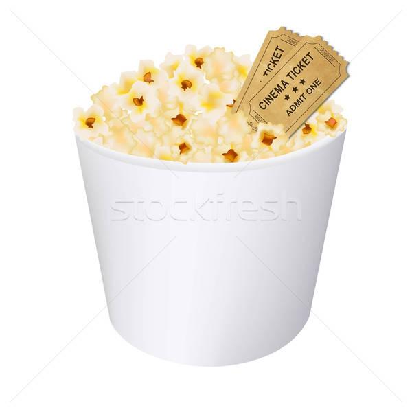 Popcorn bianco gradiente alimentare Foto d'archivio © barbaliss