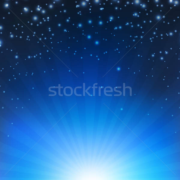 Blue Sunburst Poster Stock photo © barbaliss