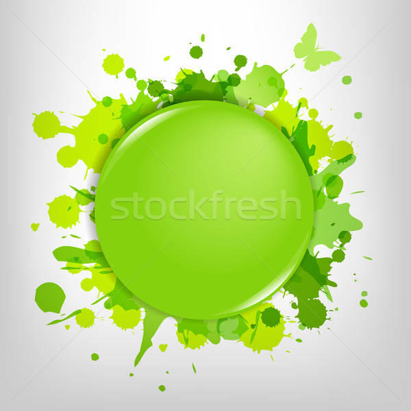 Green Glass With Green Blots Stock photo © barbaliss