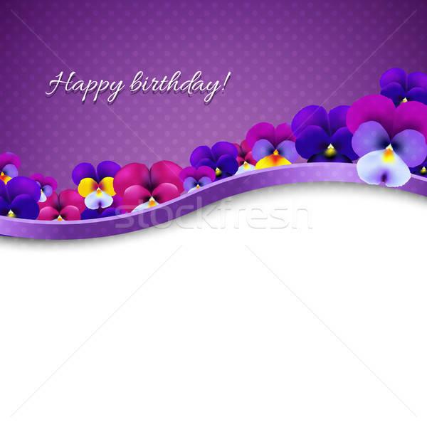 Stockfoto: Bloemen · kaart · helling · bloem