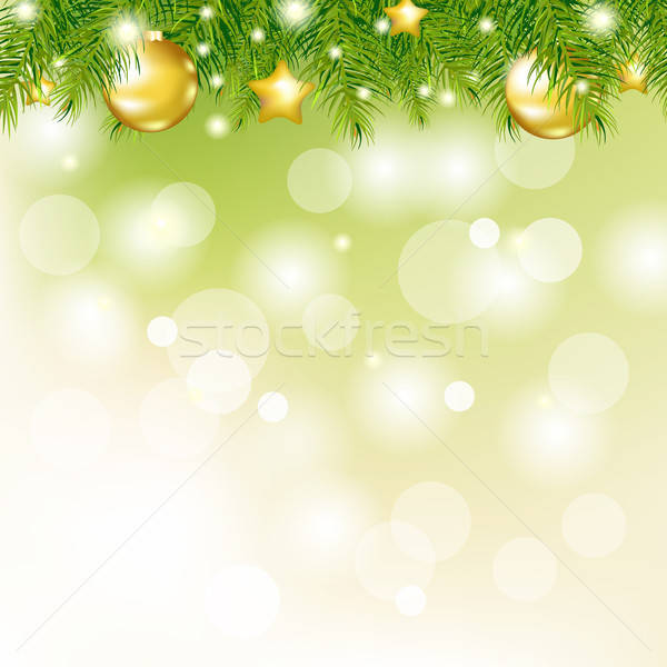 Nieuwjaar kaart boom natuur achtergrond winter Stockfoto © barbaliss