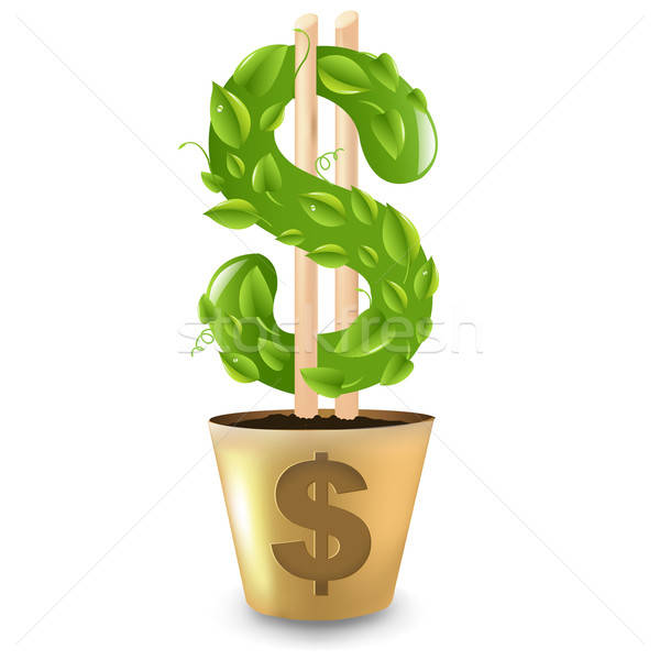 Gold Pot With Dollar Stock photo © barbaliss