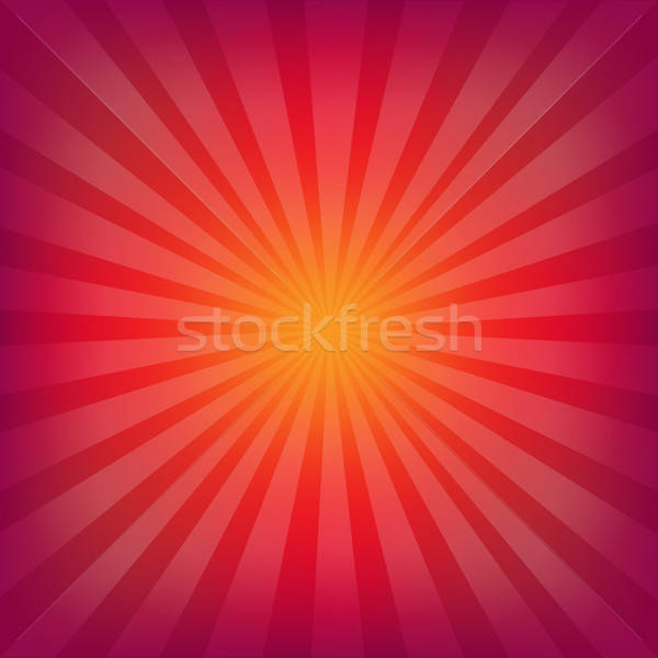 Red And Orange Background With Sunburst Stock photo © barbaliss