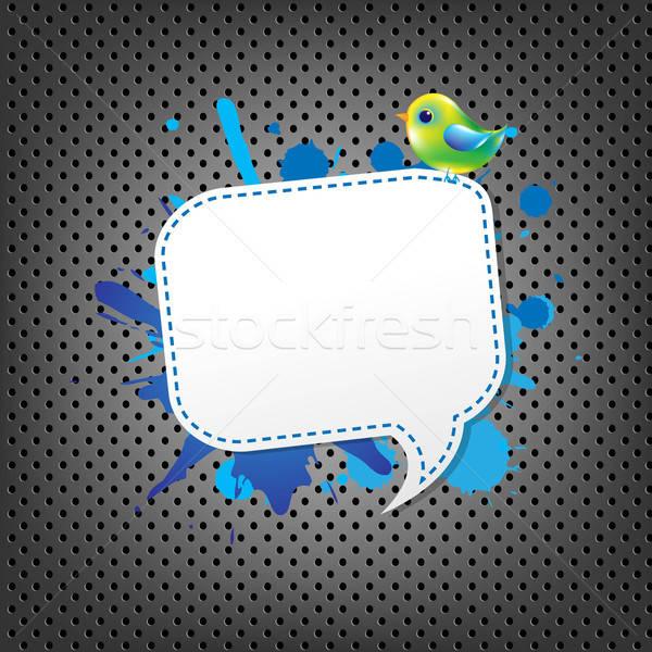 Metal dymka ptaków gradient streszczenie Zdjęcia stock © barbaliss