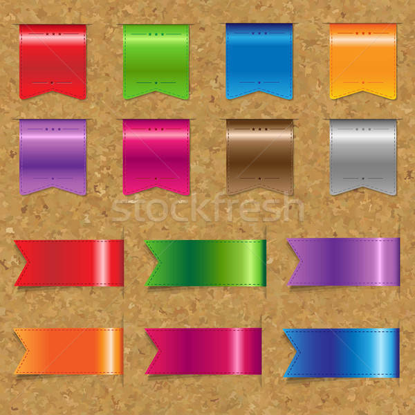 Web Color Ribbons Big Set With Cork  Stock photo © barbaliss