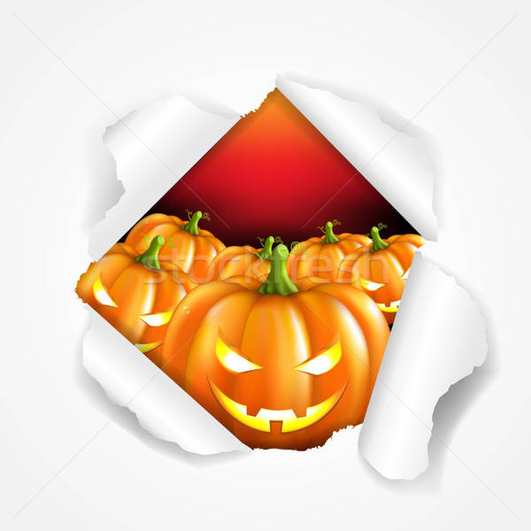 Rétro halloween affiche gradient sourire Photo stock © barbaliss