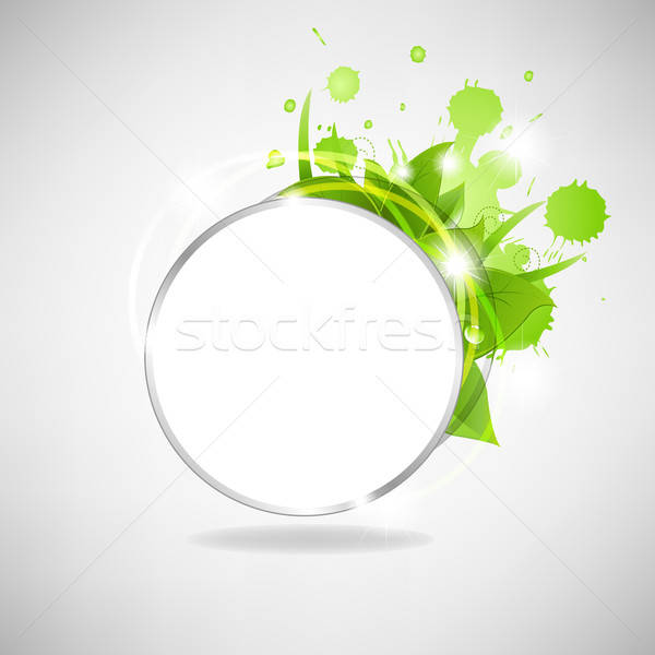 Eco Speech Bubble With Leafs Stock photo © barbaliss