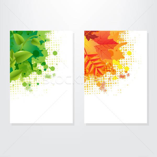 набор карт лист изолированный серый аннотация Сток-фото © barbaliss
