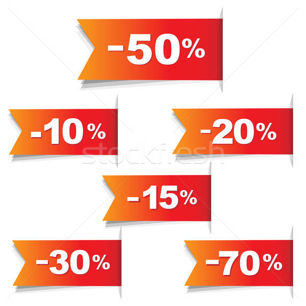 Color Discount Labels Stock photo © barbaliss