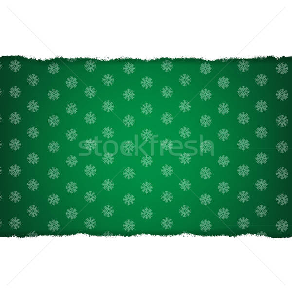 Rip White Paper And Dark Green Christmas Background Stock photo © barbaliss