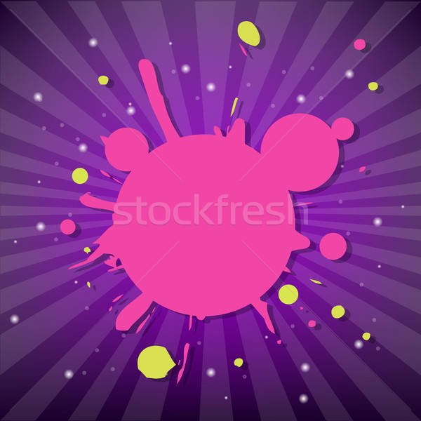 Bright Poster With Blot Stock photo © barbaliss