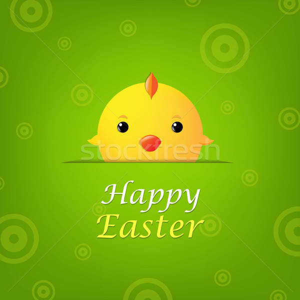 Easter Banner With Chicken Stock photo © barbaliss