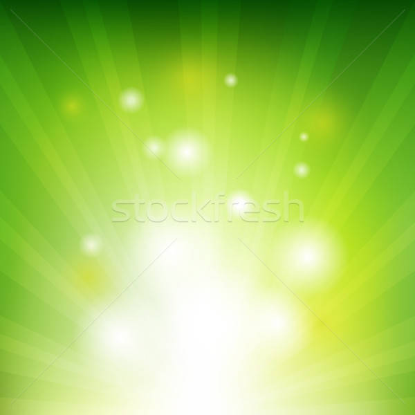 Green Background With Beams Stock photo © barbaliss