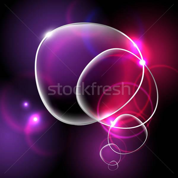 Heldere abstract glas ontwerp kunst web Stockfoto © barbaliss