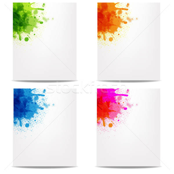 Set Banners With Color Blob Stock photo © barbaliss