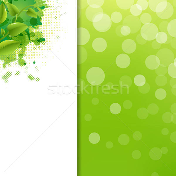 Green Eco Background With Blur And Blob Stock photo © barbaliss