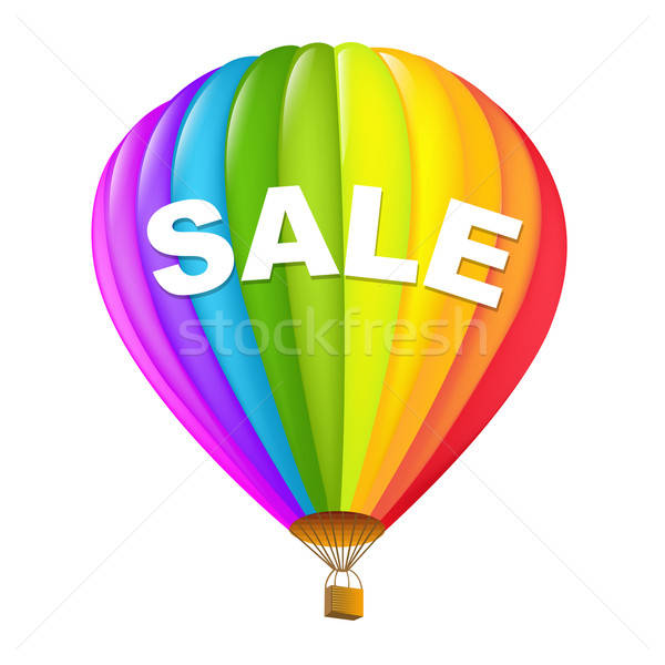 Colorful Sale Hot Air Balloons Stock photo © barbaliss