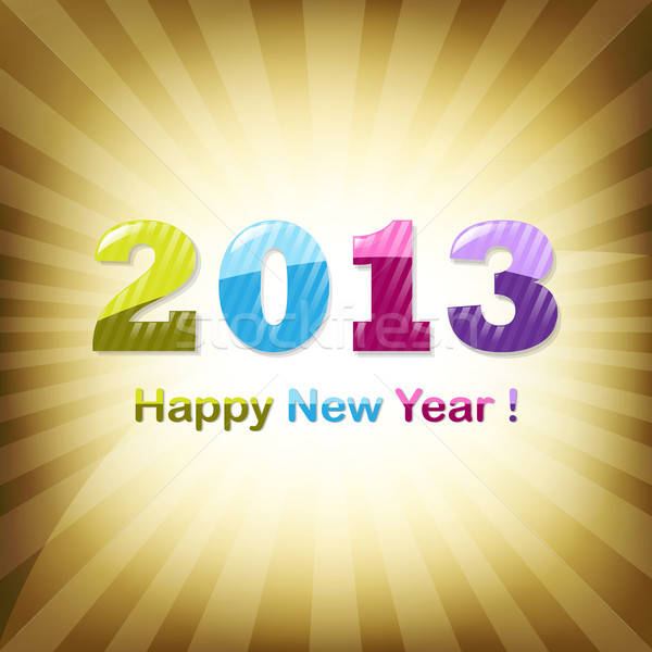 Golden New Year Design Template Stock photo © barbaliss