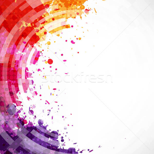 Dinamic Watercolor Blot Background Stock photo © barbaliss