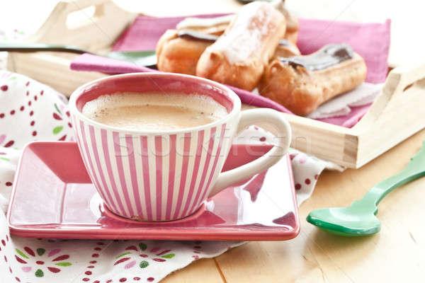 Coffee and little eclairs Stock photo © BarbaraNeveu