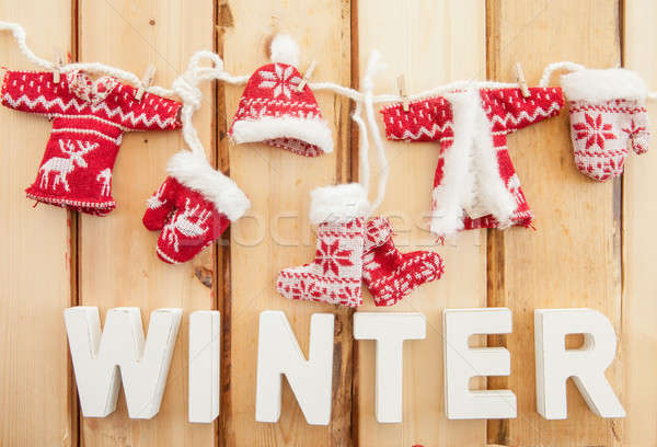 Colorful knitted clothing Stock photo © BarbaraNeveu