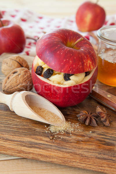 Preparing backed apples Stock photo © BarbaraNeveu