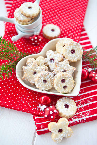 Christmas cookies ornamenten Rood foto zoete Stockfoto © BarbaraNeveu